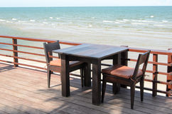 Table seaside Royalty Free Stock Image