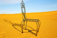 table and seat in desert      sahara Royalty Free Stock Photos