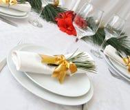 Table servante d'an neuf ou de Noël Photo stock