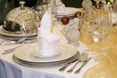 Table served 2. A table arranged for a luxury meal Royalty Free Stock Photography