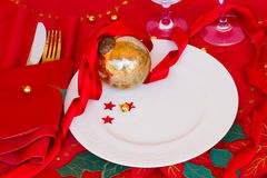 Table served for christmas Royalty Free Stock Images