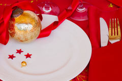 Table served for christmas party Stock Photo
