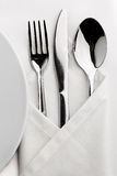 Table served tableware Stock Photo