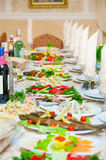 Table service for holiday Royalty Free Stock Image