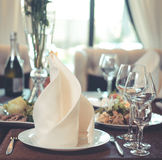 Table service in the restaurant Stock Photography
