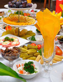 Table servie photos stock