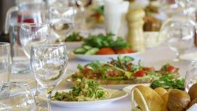 Table servie pour un banquet Photo libre de droits