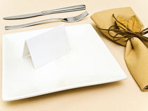 Table serving Royalty Free Stock Images
