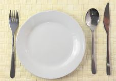 Table serving Stock Image
