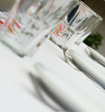 Table setting a restaurant Stock Photography