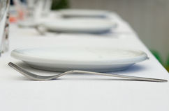 Table setting at restaurant Royalty Free Stock Photography