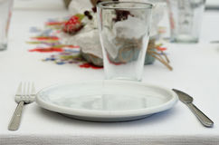 Table setting at restaurant Royalty Free Stock Image