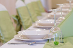Table set. For wedding day royalty free stock images