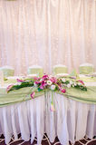 Table set. For wedding day stock photography
