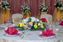 Table set for Banquet  Stock Images