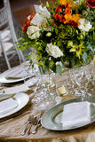 Table set for a catered event Stock Photos