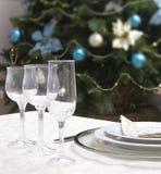 Table set for christmas Royalty Free Stock Photo