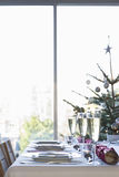 Table Set For Christmas Stock Images