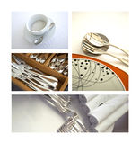 Table set and cutlery Royalty Free Stock Image