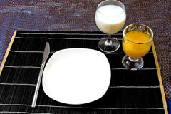 Table set for dinner Royalty Free Stock Photography