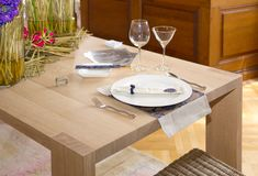 Table set for a dinner Stock Photography