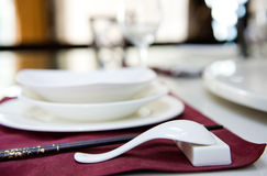 Table set for dinner Royalty Free Stock Photo