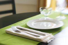 Table set for dinner Stock Photography