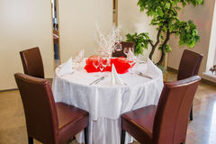 Table set for a dinner Stock Photos