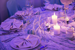 Table set for a dinner Royalty Free Stock Photography