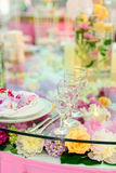 Table set for an elegant dinner Stock Images
