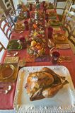 A table set for an elegant dinner, Ojai, California Stock Photos