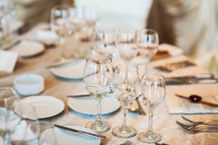 Table set for event Royalty Free Stock Images