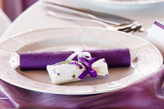 Table set for event Royalty Free Stock Photo