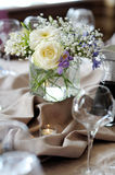 Table set for an event party Stock Photo