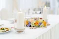 Table set for an event party Stock Image