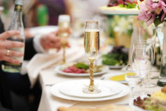 Table set for an event party. Or wedding reception Royalty Free Stock Images