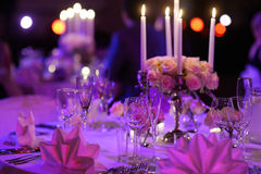 Table set for an event party Royalty Free Stock Images
