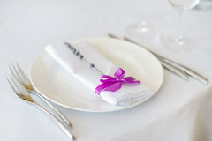 Table set for an event party or other reception Stock Photography