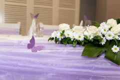 Table set for an event party or wedding Royalty Free Stock Photography