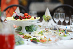Table set for an event party Royalty Free Stock Photo