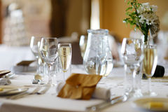 Table set for an event party Royalty Free Stock Photos