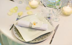 Table set for an event party or wedding Royalty Free Stock Images