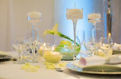 Table set for an event party or wedding Royalty Free Stock Photos