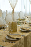 Table set for an event party. Stock Photography