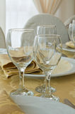 Table set for an event party. Stock Image