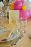 Table set for an event party. Royalty Free Stock Photography