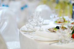 Table set for an event Stock Images