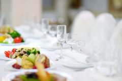 Table set for an event Royalty Free Stock Image