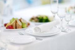 Table set for an event Royalty Free Stock Images