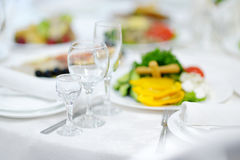 Table set for an event Stock Image